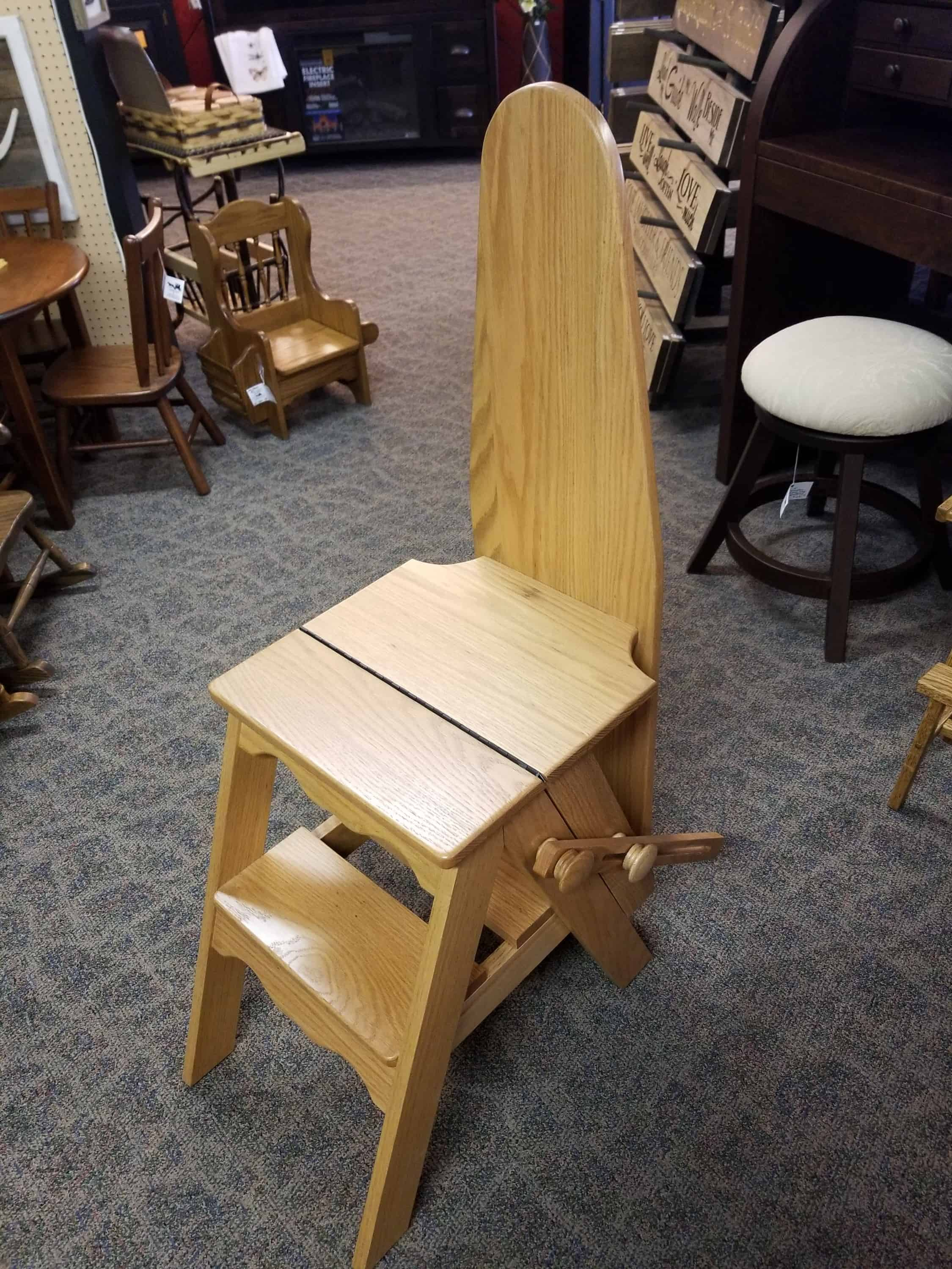 Fine Ironing Board Step Stool Shown In Hickory With A Natural Finish Frankydiablos Diy Chair Ideas Frankydiabloscom