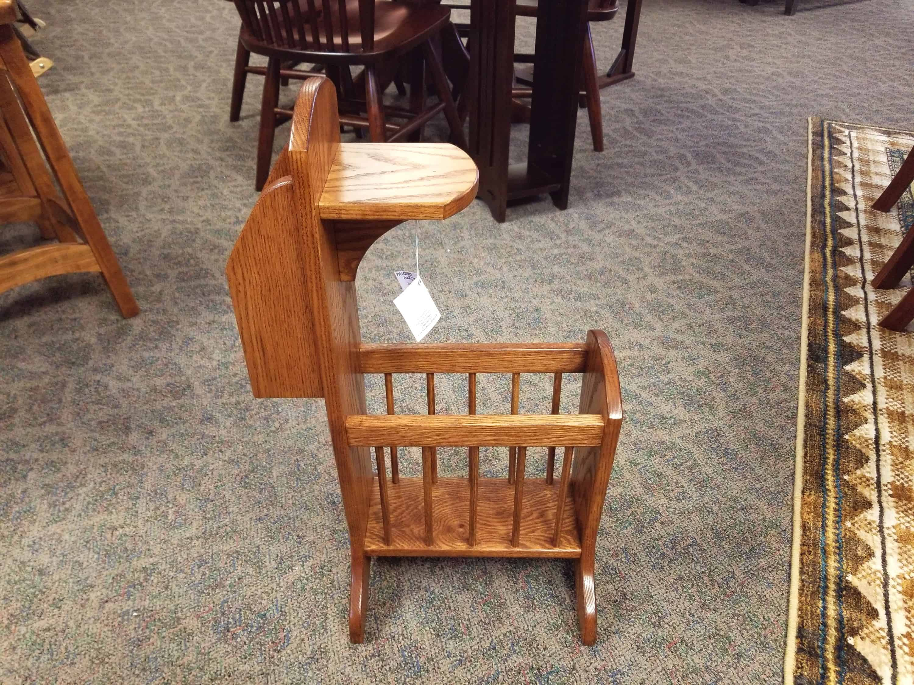 Couch Stand Shown In Oak With A Seely Stain Amish Oak