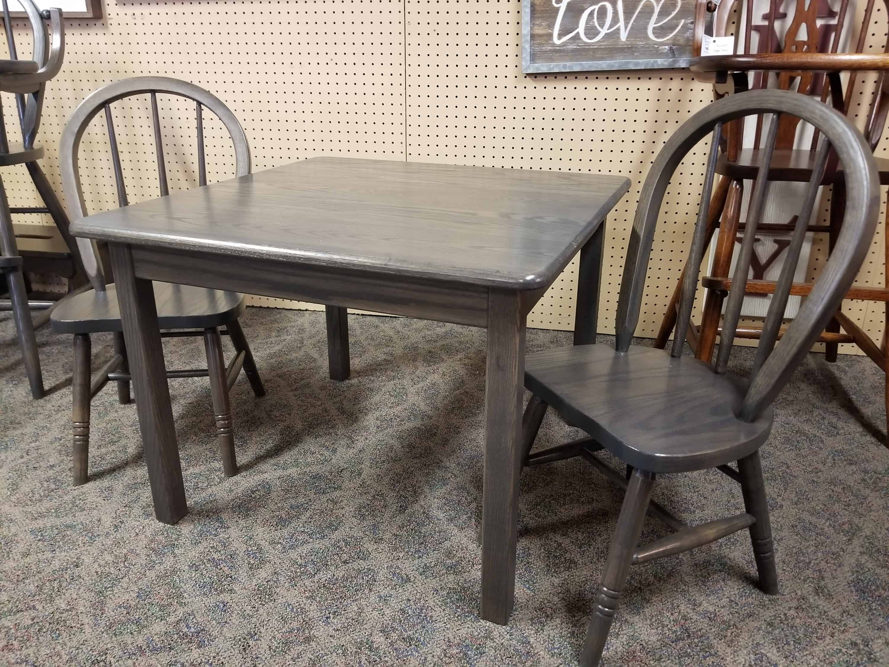 Child S Table And Chair Set Shown In Oak Amish Oak