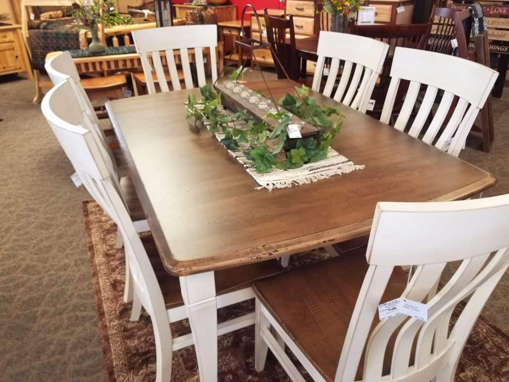 Newbury Dining Set Including 6 Galena Side Chairs Shown