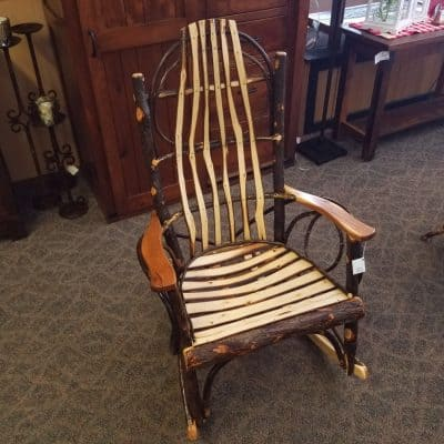 Hickory Rocker with Split Hickory Slats 1