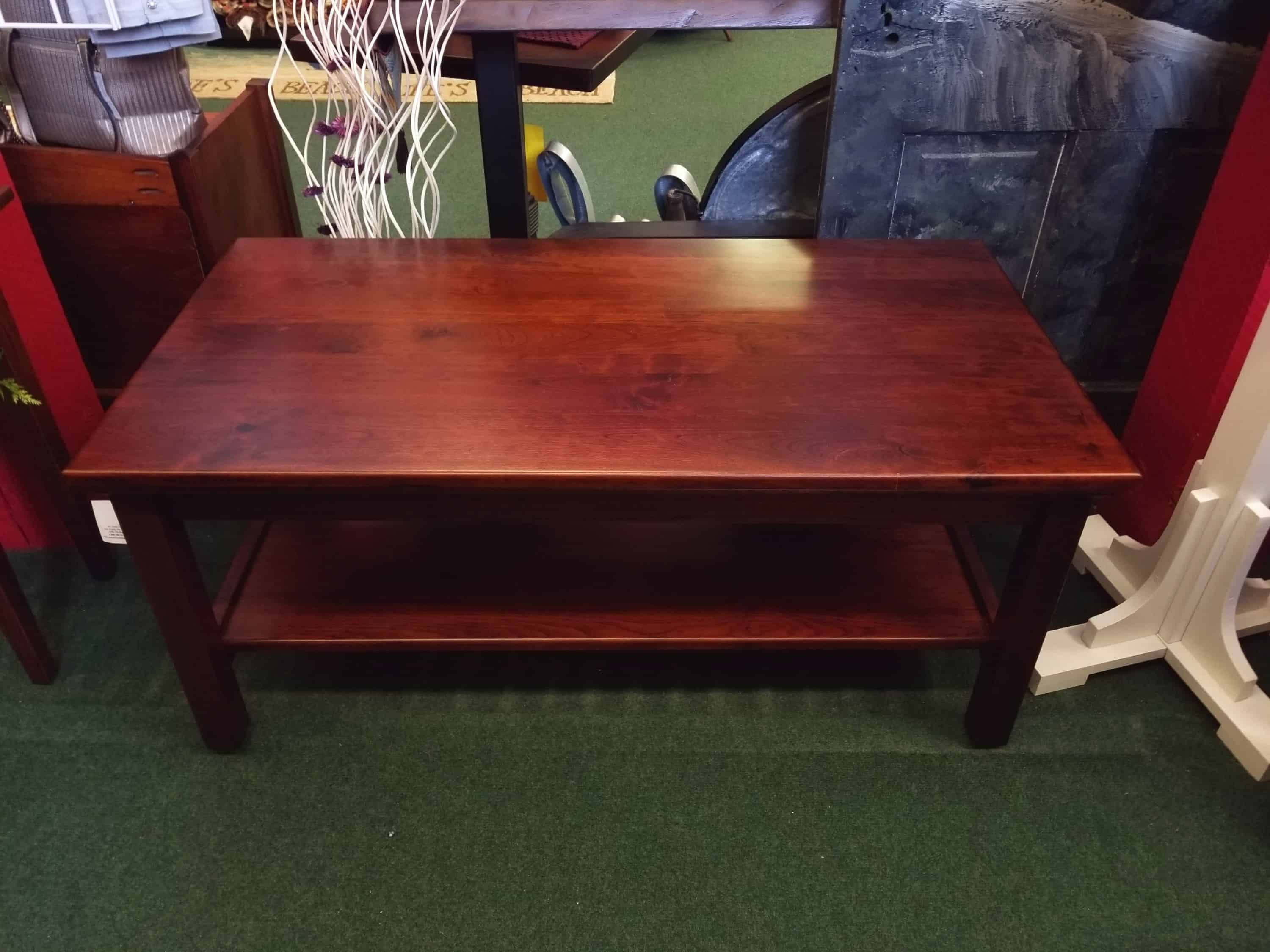 Coffee Table Shown In Rustic Cherry