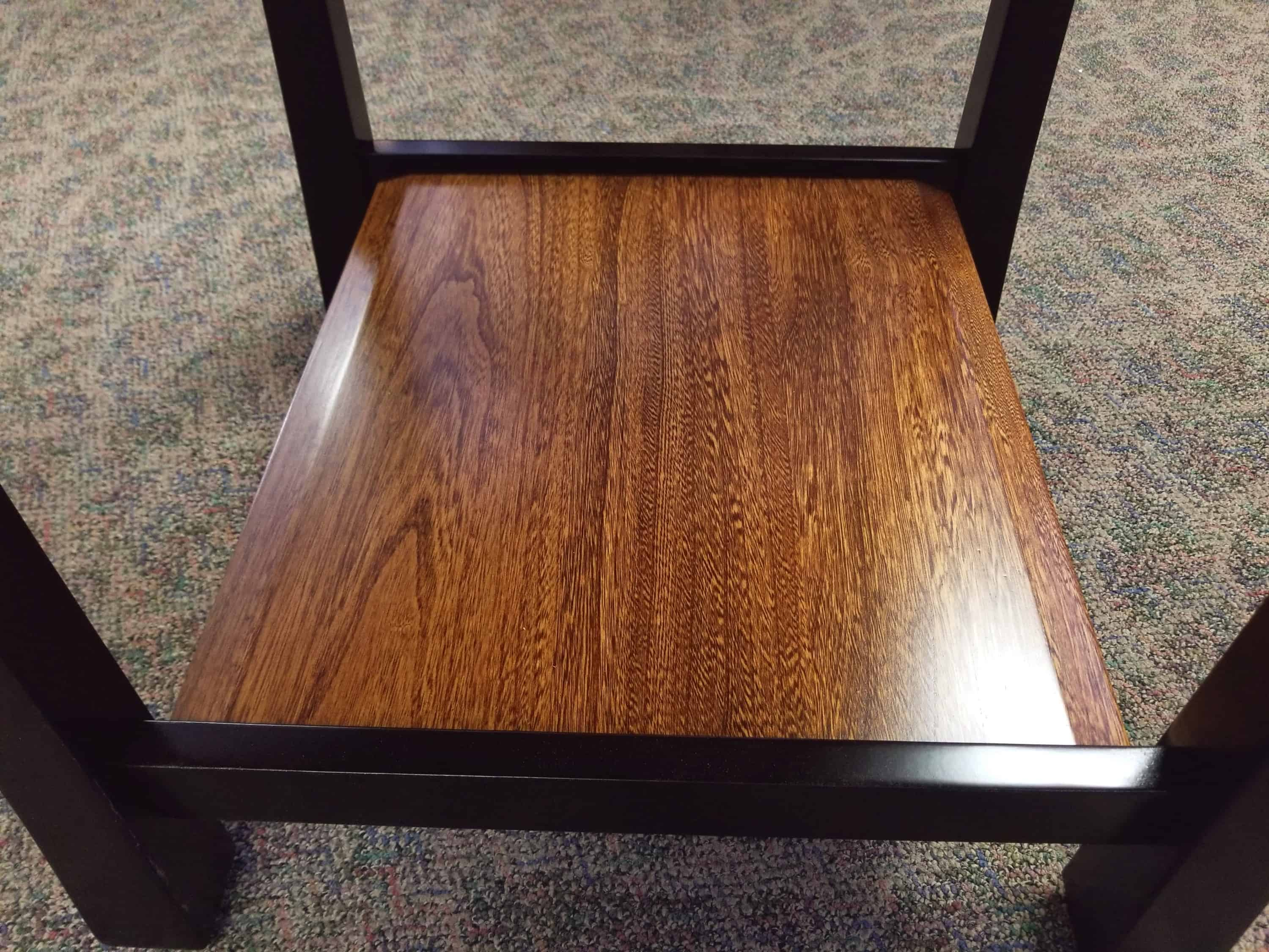 Tyron End Table Shown With A Elm Top And Brown Maple