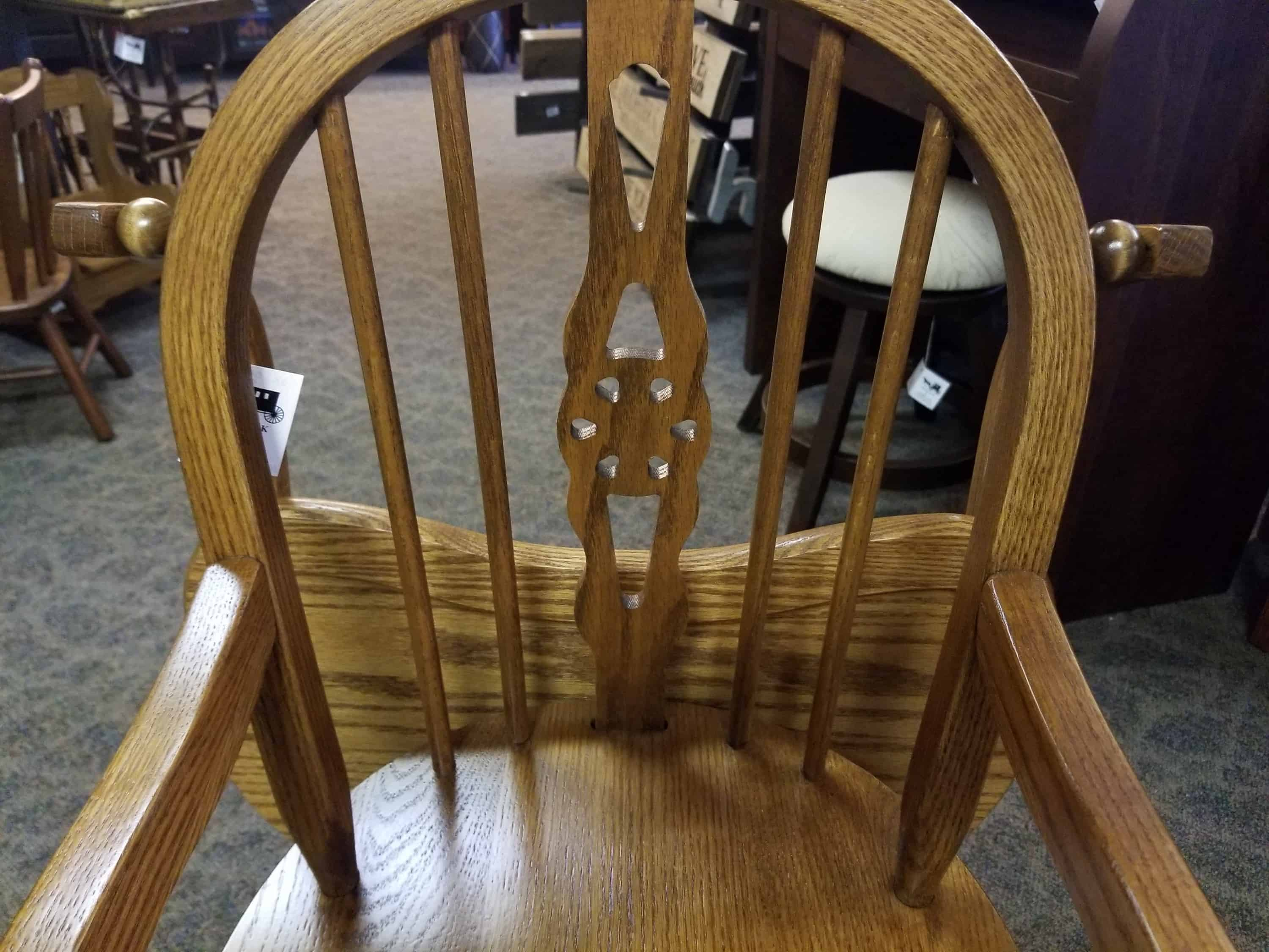Windsor High Chair Shown In Oak With A Seely Finish