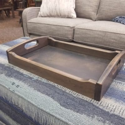 Brown Maple Deluxe Serving Tray 1