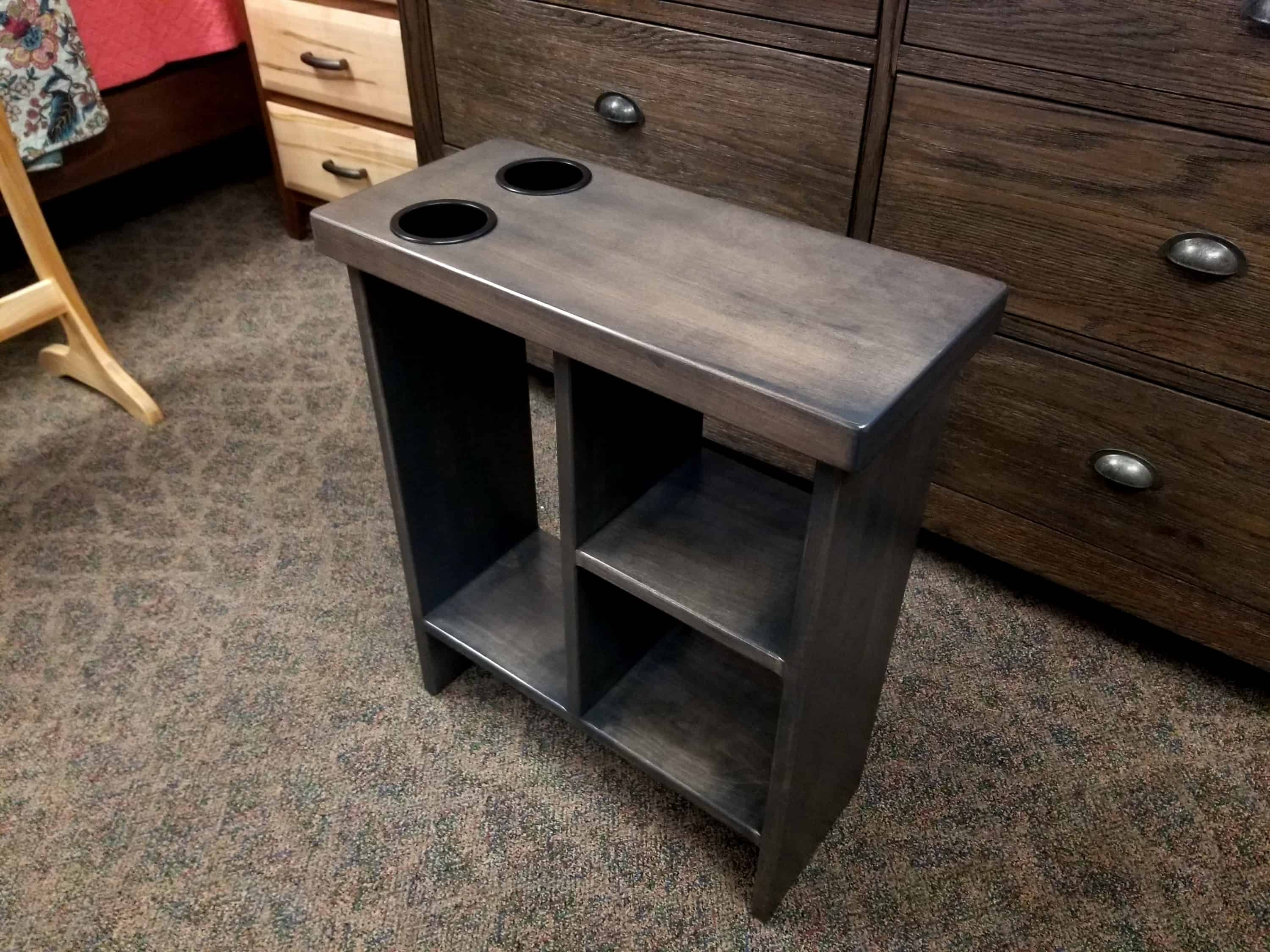 End Table Shown In Brown Maple Amish Oak