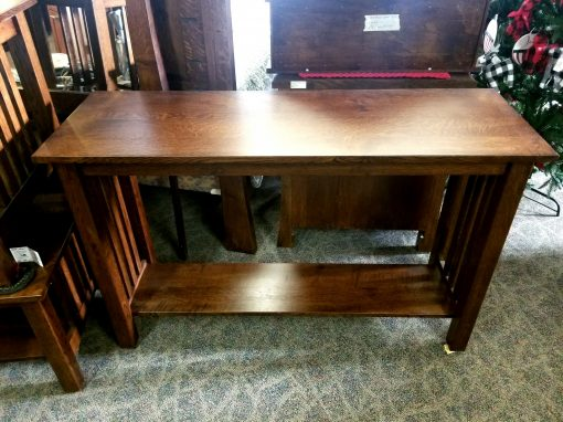 Country Mission Sofa Table 1