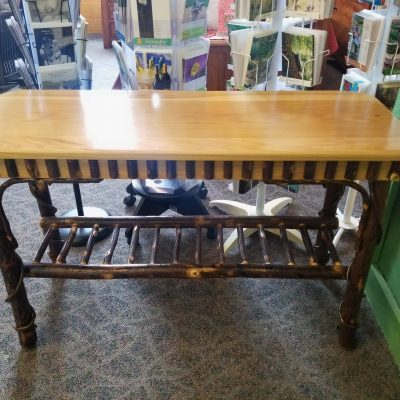 Solid Top Hickory Sofa Table 1